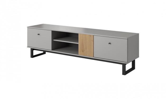 TV stolík Dione (dub artisan, sivá)