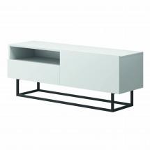 TV stolík Duva (zásuvka, biela)