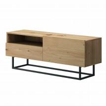 TV stolík Duva (zásuvka, dub)