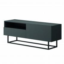 TV stolík Duva (zásuvka, grafit)