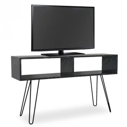 TV stolík Shape (čierna, mramor)