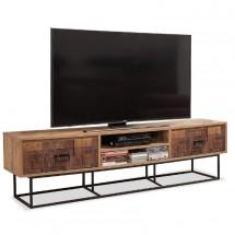 TV stolík Toska (borovica, hnedá)
