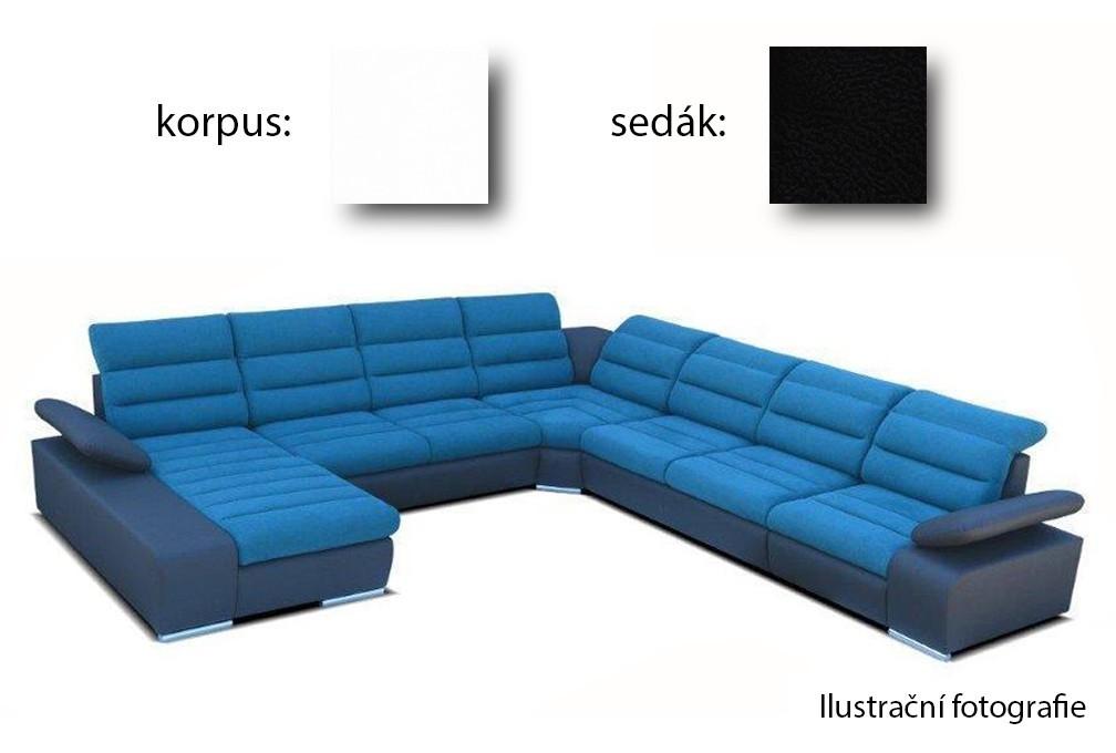 Tvar do U Korfu IV - ľavý roh, 3+2+relax (soft 17, korpus / aruba 19, sedák