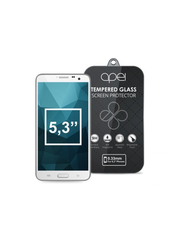 Tvrdené sklá Apei Slim Round Glass Protector for  5,3'' Phones (0.3mm)