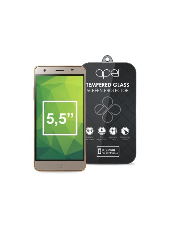 Tvrdené sklá Apei Slim Round Glass Protector for  5,5'' Phones (0.3mm)