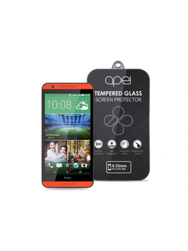 Tvrdené sklá Apei Slim Round Glass Protector for HTC 820 (0.3mm)