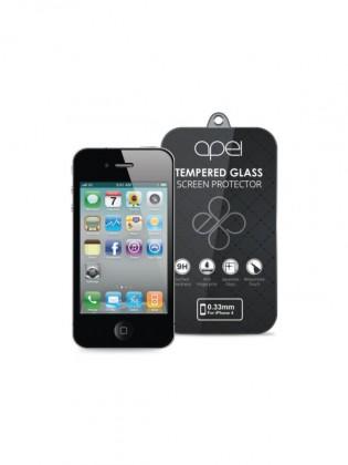 Tvrdené sklá Apei Slim Round Glass Protector for iPhone 4 (0.3mm)