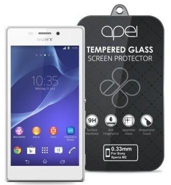 Tvrdené sklá Apei Slim Round Glass Protector for Sony M2 (0.3mm)