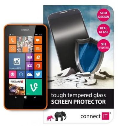 Tvrdené sklá Connect IT Ochranné tvrdené sklo Nokia Lumia 630 CI-474