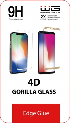 Tvrdené sklá Tvrdené sklo 4D pre Motorola Moto G8 Power Lite, Edge Glue