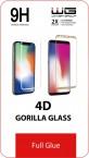 Tvrdené sklo 4D Full Glue Huawei Nova 4 (2019), čierná