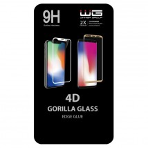 Tvrdené sklo 4D pre iPhone 6/6s/7/8/SE (2020), čierna
