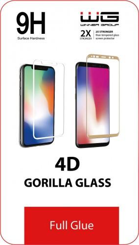 Tvrdené sklo 4D pre Samsung Galaxy A21s, Full Glue, čierna