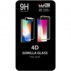 Tvrdené sklo 4D pre Samsung Galaxy A40, čierna