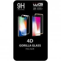 Tvrdené sklo 4D pre Xiaomi Redmi Note 8T, Full Glue, čierna POUŽI