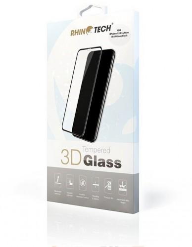 "Tvrdené sklo RhinoTech pre Apple iPhone 12 Pro Max,6,7"",FullGlue"