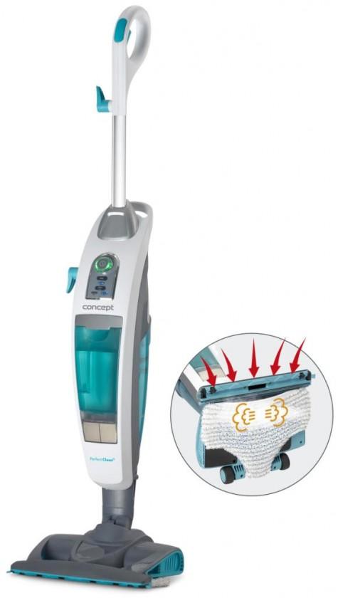 Tyčové vysávače sieťové Parný mop Concept CP3000 Perfect Clean, 3v1