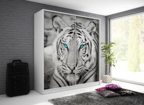 Tygrys - Skriňa, 200/214/62 (biela/potlač)