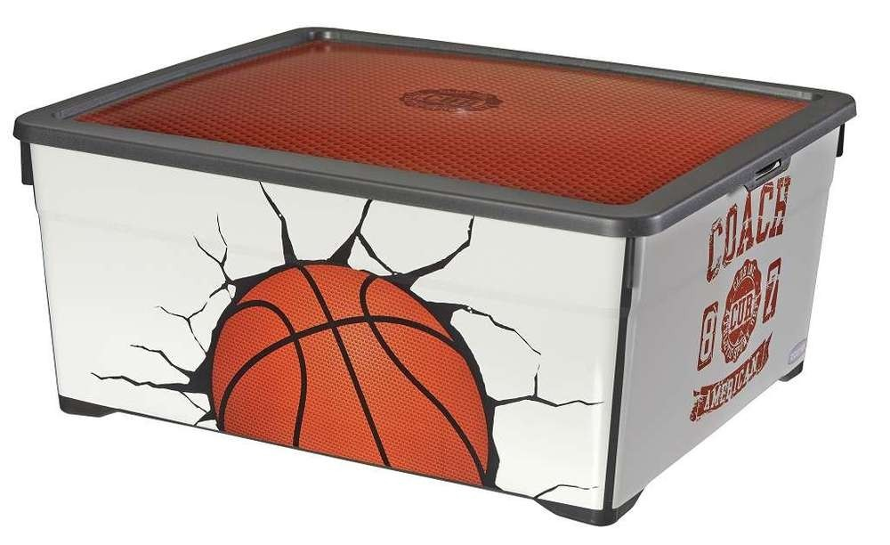 Úložný box 18,5l - Basket (biela)