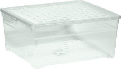 Úložný box - 18,5L (plast, transparentný)