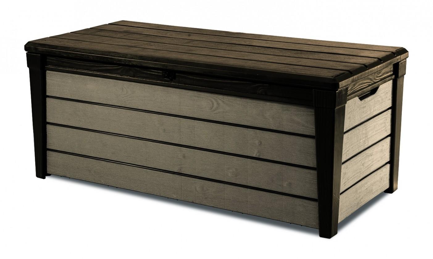 Úložný priestor Box Brushwood, 455L, new wood look (hnedá)