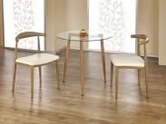 Ulster - Jedálenský stôl guľatý 80 cm (jelša, číre sklo)
