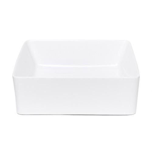 Umývadlo na dosku UD09 (39x13x39 cm, biela)