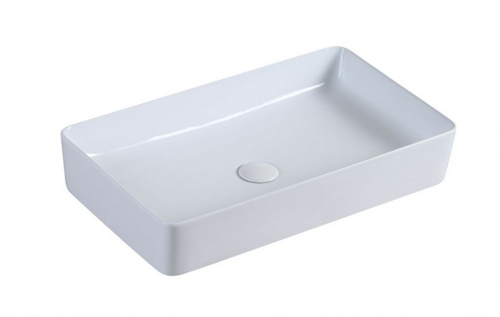 Umývadlo na dosku UD14 (62x11x35 cm, biela)
