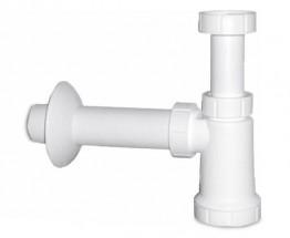 Umyvadlový sifon (biely plast)