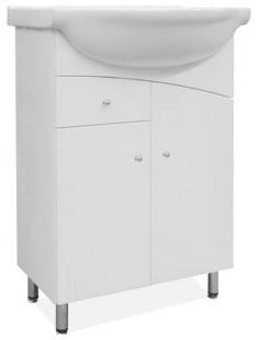 Union - Skrinka s umývadlom 55 cm (biela vysoký lesk)