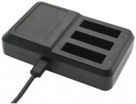 Univerzálna nabíjačka pre akčné kamery N208, až 3 batérie