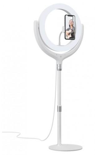 """Univerzálny selfie stojan s prstencom Devia 12"""", biely"""