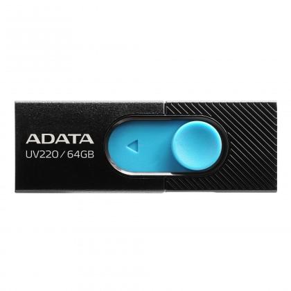 USB 2.0 flash disky 64GB ADATA UV220 USB black/blue