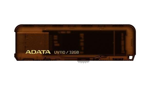 USB 2.0 flash disky ADATA DashDrive UV110 32GB hnedý