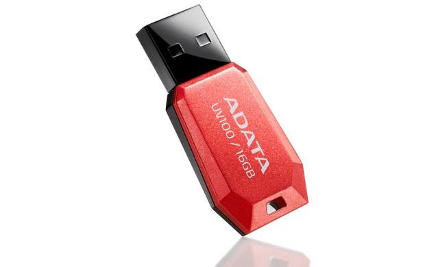USB 2.0 flash disky ADATA UV100 16GB, červený