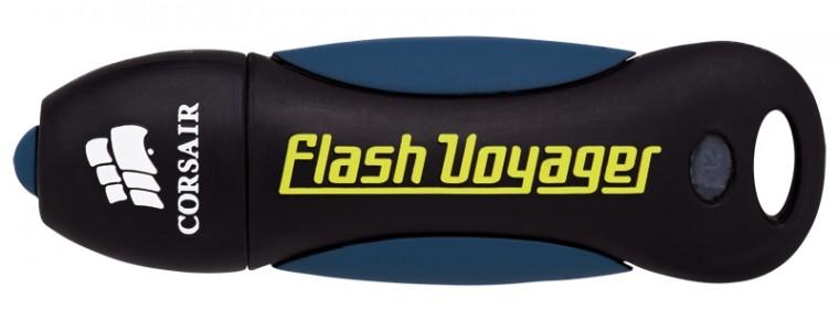 USB 2.0 flash disky Corsair Voyager 16GB čierny-modrý