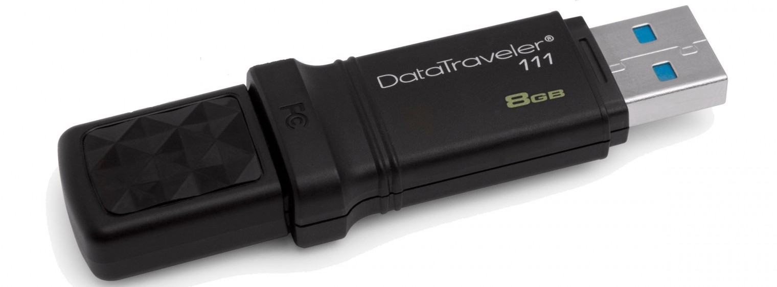 USB 2.0 flash disky Kingston DataTraveler 111 8GB čierny