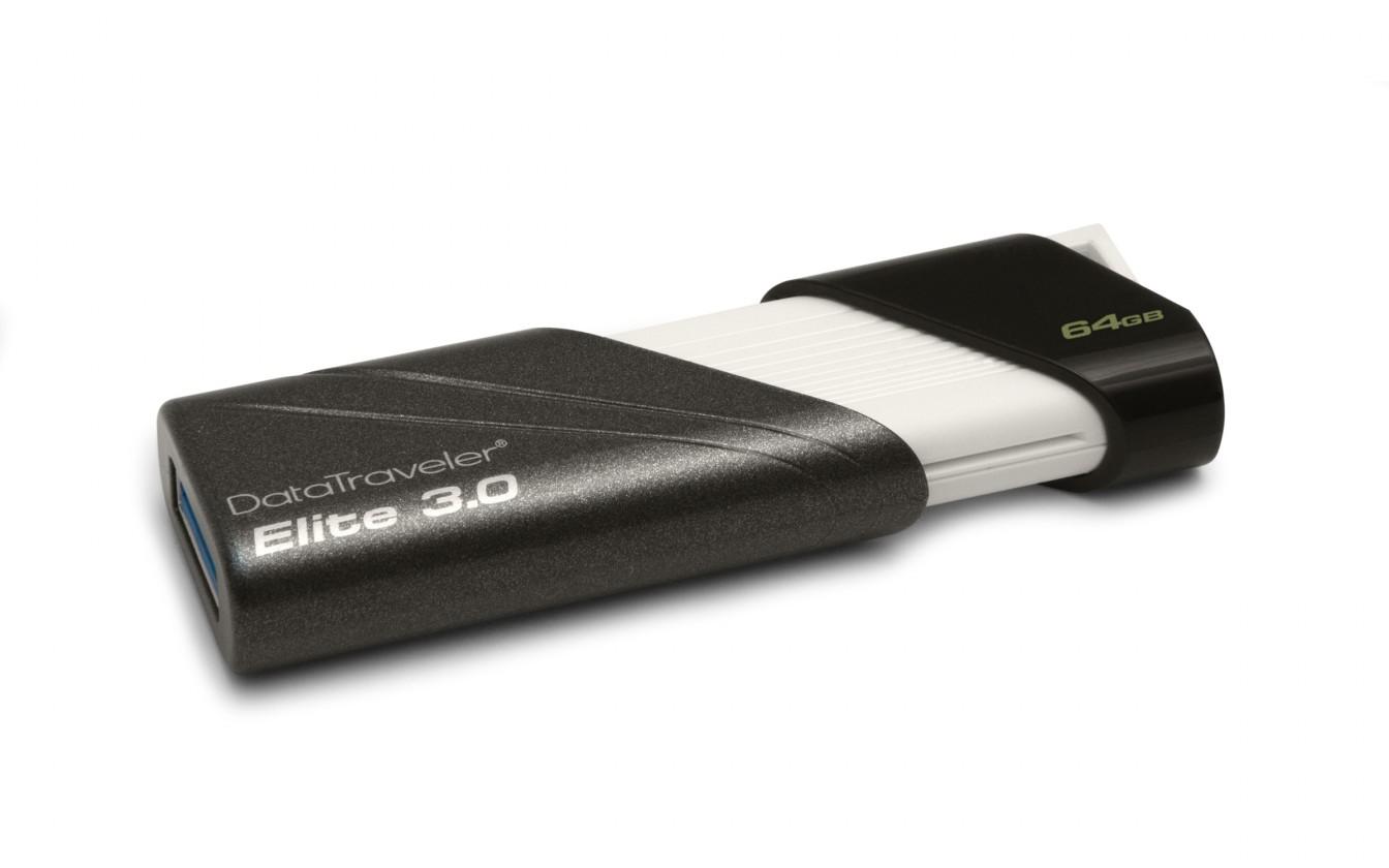 USB 2.0 flash disky Kingston DataTraveler Elite 64GB čierny