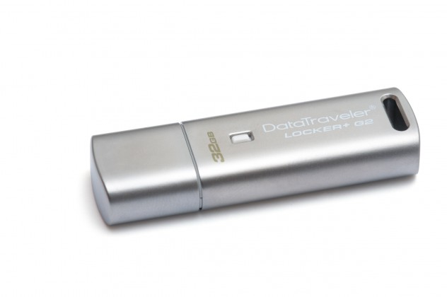 USB 2.0 flash disky Kingston DataTraveler Locker+ 32GB strieborný