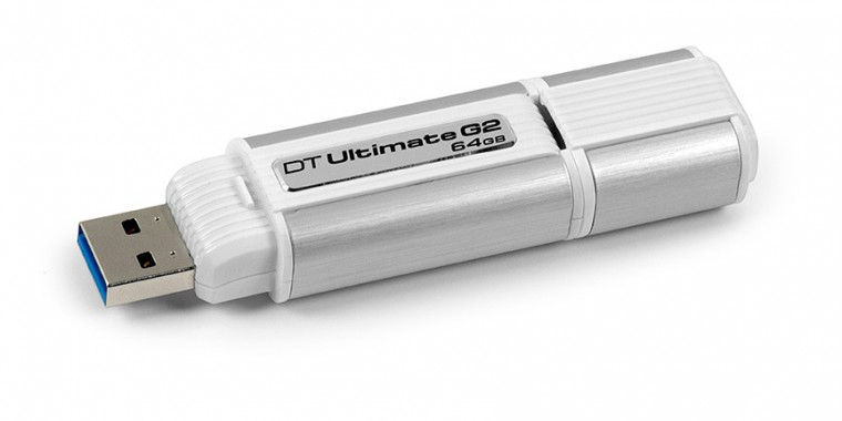 USB 2.0 flash disky Kingston DataTraveler Ultimate G2 64GB strieborný