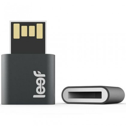 USB 2.0 flash disky Leef USB 16GB Fuse 2.0 charcoal white