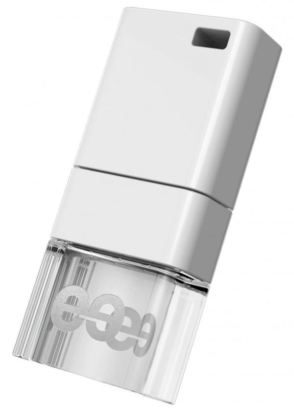 USB 2.0 flash disky Leef USB 8GB Ice 2.0 white-white