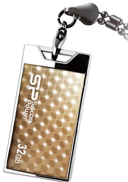 USB 2.0 flash disky Silicon Power Touch 851 32GB zlatý
