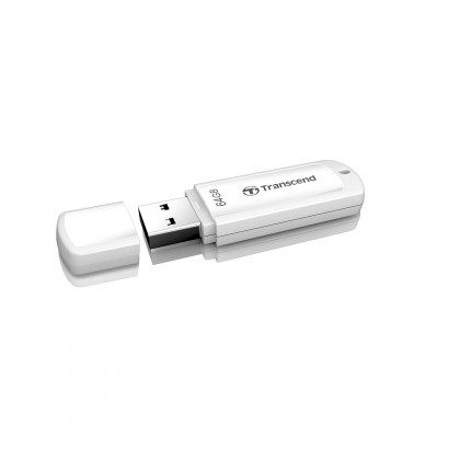 USB 2.0 flash disky Transcend JetFlash 370 64GB biely