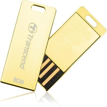 USB 2.0 flash disky Transcend JetFlash 3G 8GB zlatý