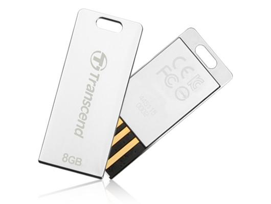 USB 2.0 flash disky Transcend JetFlash 3S 8GB strieborný