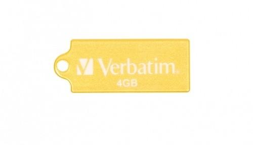 USB 2.0 flash disky Verbatim Store 'n' Go Micro 4GB žltý