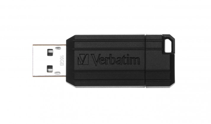 USB 2.0 flash disky Verbatim Store 'n' Go PinStripe 16GB čierny