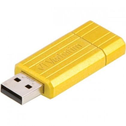 USB 2.0 flash disky Verbatim Store 'n' Go PinStripe 16GB žltý