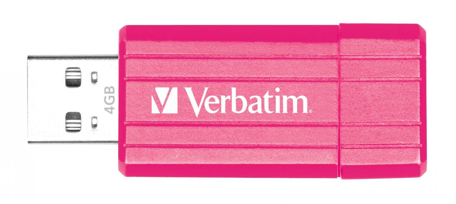 USB 2.0 flash disky Verbatim Store 'n' Go PinStripe 4GB ružový